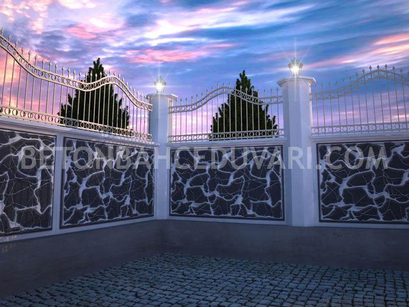 Desenli beton bahçe duvar kalıpları satış uygulama